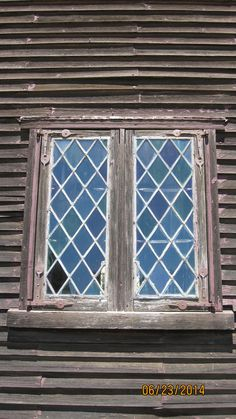A window at Strawberry Banke Museum, Portsmouth, New Hampshire