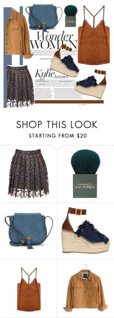 """""""Suede Pieces for Spring"""" by bysc ❤ liked on Polyvore featuring Mary Katrantzou, MAC Cosmetics, Nanette Lepore, Chloé and Madewell"""