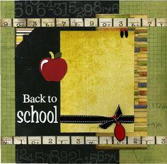 school picture scrapbook layout | School scrapbooking layouts / Back To School - Scrapbook Page
