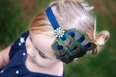Peacock Feather  Headband Baby Girl Headband Newborn by hawtbaby, $18.50...im going to make one!