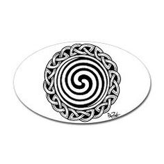 Spiral Strength Oval Sticker
