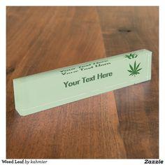 Weed Leaf Desk Name