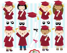 Graduation Boys and Girls digital clip art set (Black) -kindergarten,Preschool, High School, College -Personal and Commercial Use- Graduation Clip Art, Graduation Crafts, Preschool Graduation, Cake Logo Design, Clipart, Art Images, Etsy, Boy Or Girl, Paper Crafts