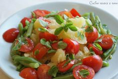 Insalata di patate, pomodorini e fagiolini