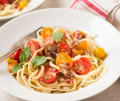 Pasta Fredda with Cherry Tomatoes Anchovies and Herbs Recipe #food #foodporn #recipe #cooking #recipes #foodie #healthy #cook #health #yummy #delicious