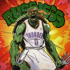 OKC Thunder guard Russell Westbrook and Raphael from the Teenage Mutant Ninja Turtles have a lot in common, so it only seems right they be mashed together in a perfect drawing. Description from thunderobsessed.com. I searched for this on bing.com/images