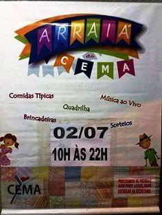 CEMA – Centro Espírita Maria Angélica Convida para o seu Arraiá Fraterno - Recreio dos Bandeirantes – RJ - http://www.agendaespiritabrasil.com.br/2016/07/01/cema-centro-espirita-maria-angelica-convida-para-o-seu-arraia-fraterno-recreio-dos-bandeirantes-rj/