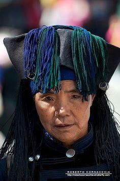 Hani woman, Yuanyang, Yunnan, China