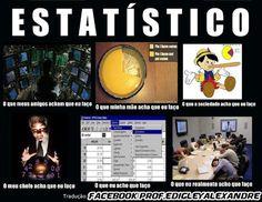 O que as pessoas pensam de um estatístico - Prof. Edigley Alexandre