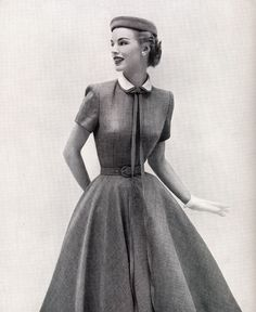 1952. Early 50's fashion. There is just nothing like it. So beautiful, so elegant, so feminine. I can't think of a style that is more perfect.