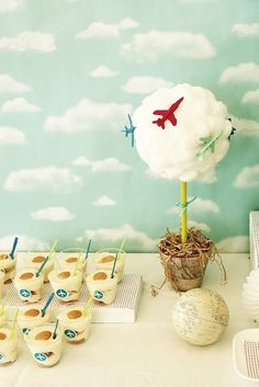 This delightful airport theme party by Suzie of Project Party Perfect via baby shower ideas and shops Planes Birthday, Planes Party, Birthday Party Desserts, 2nd Birthday Parties, Birthday Ideas, Kitty Party, Harry Potter Halloween, Airport Theme, Vintage Airplane Party