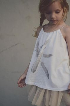Feather blouse, so chic. Kids on the Moon #designer #kids #fashion