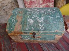 boite ancienne papier peint ancien XIXe Empire coffret de mariage art populaire | eBay