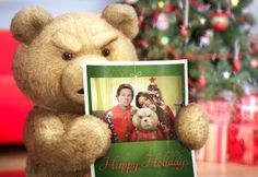 Ted Hero Movie, Movie Tv, Ted Bear, Cute Teddy Bears, Comedy Movies, Movies And Tv Shows, Happy Holidays, Christmas Cards, Cinema