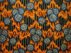 Examples of the use of orange in Art Deco fabrics from the 1920s-1930s (3 of 4).