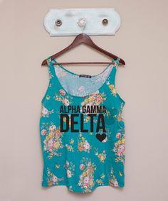 Alpha Gamma Delta Floral Tank