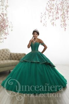 c0ce51cd6e5 13 Best Green Quinceanera Dresses images in 2019
