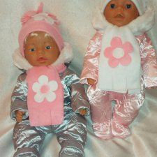Комбенизон зимний с шапкой и шарфом,одежда для кукол baby born / Одежда для кукол / Шопик. Продать купить куклу / Бэйбики. Куклы фото. Одежда для кукол