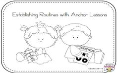 Big Kindergarten Freebie for Establishing Routines!