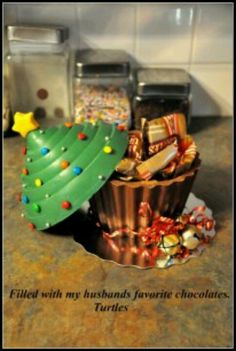 Check out this fun tutorial on how to make a chocolate Christmas cupcake bowl from a giant cupcake pan.   https://www.facebook.com/media/set/?set=a.265205020209428.67590.132251153504816=3=13