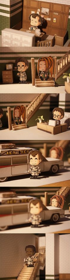 Chibi papercraft Ghostbuster art! WANT!