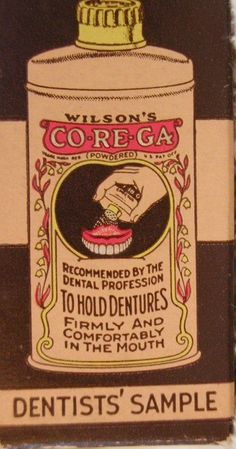Vintage dental ad. #dentistry