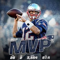 Who's your MVP? Brady has put up great numbers this year despite a four game suspension. @tombrady @patriots #mvp #goat