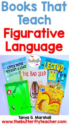 Figurative language brings books and poetry to life for all readers! This list of books that teach figurative language will help teachers across grade levels.  #teachingfigurativelanguage #figurativelanguageideas #teachinggrammar #3rdgradeela #fourthgradelea #5thgradeela #literacyideas #alliteration #teachingmetaphors #literarydevices #similesforkids #figurativelanguagebooks #personification