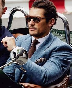 2f9b255315e2 Modern Gentleman David Gandy light blue suit in wool