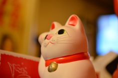 Manekineko:Fortune cat at Yakitoriya Ranman.