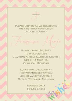 chevron baptism invitations
