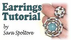 BeadsFriends: beading tutorial - DIY earrings using beads