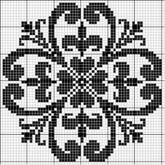 This Pin was discovered by Mar Filet Crochet Charts, Crochet Cross, Knitting Charts, Knitting Stitches, Cross Stitch Pillow, Cross Stitch Charts, Cross Stitch Designs, Cross Stitch Patterns, Cross Stitching