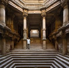 The Step well in Ahmedabad, Gujarat, India