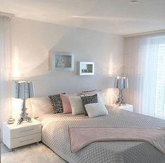 Grey Bedroom Ideas - Breaking monotony is key when coming close to a gray bedroom. as well as select a brighter color next to the grey tone to make it much more interesting. Living Room Decor Curtains, Bedroom Decor, Bedroom Ideas, Bedroom Curtains, Bedroom Designs, Bedroom Inspiration, Voile Curtains, Bedroom Pictures, Gray Bedroom
