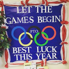Olympic theme back to school bulletin board