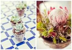 Nothing says South African Wedding like proteas...