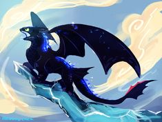 Alpha Dragon by Bedupolker ...  How to train your dragon, toothless, night fury, dragon