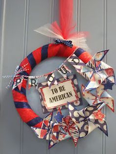 Proud to be American Wreath