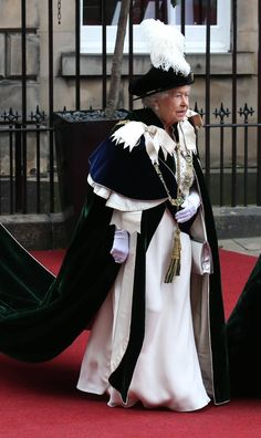 The Queen is the Sovereign for Order of the Thistle and recognises people who've contributed significantly to life.