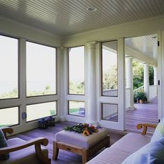 Two Rivers Charm We love this beautiful porch designed by Michael S Wu Architect. Perfect space to curl up in with a hot chocolate on a December afternoon! #tellthemscoutsentyou #tworivers #howilocal #theshore