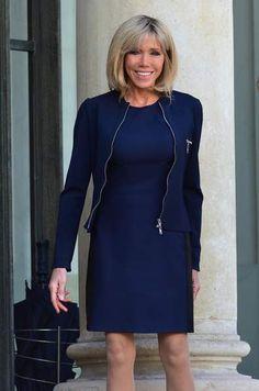Beaux Couples, Emmanuel Macron, Madame, Mistress, Lady, Style Me, High Neck Dress, Womens Fashion, Casual