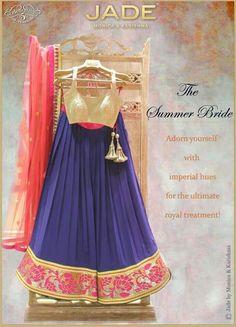 Blue, gold, and pink 3d lehenga design #bridallehngacholi #bridalweddinglehenga