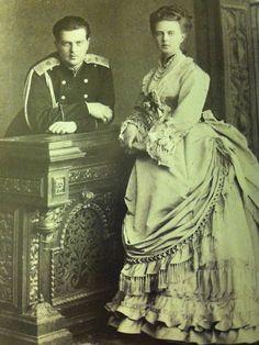 Grand Duke Vladimir Alexandrovich & Grand Duchess Maria Alexandrovna - children of Alexander II, siblings of Alexander III, and Uncle/Aunt of Nicholas II