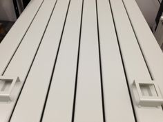The back of this modern designer radiator now re painted in our customers chosen colour