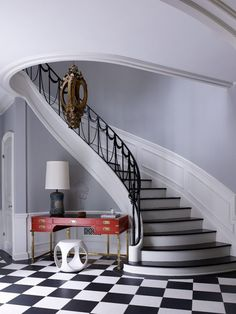 Foyer by Paris-based architect and interior designer, Jean-Louis Deniot, recognized worldwide for his serene, elegant interiors, and refined furniture and lighting collections, via http://www.sarahsarna.com/style-profile-jean-louis-deniot/