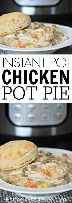 Easy chicken pot pie! You are going to love this Instant Pot Chicken Pot Pie Recipe. It is the best pot pie recipe ready in under an hour. #pressurecooker #instantpot #chickenpotpie