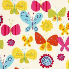 Robert Kaufman fabric flower butterfly