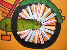 Fiets knutselen Transportation, Art Drawings, Preschool, Workshop, Logos, Sports, Projects, Ladybug, Kid