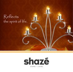 A lighted candle represents the spirit of life and symbolizes nobility.  This regal candle stand crafted out of sterling silver sets the perfect ambience for any event.  View our Candle Stand Collection at www.shaze.in